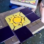 Mosaic Table Class - just getting started