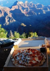 Pizza at the North Rim of the Grand Canyon