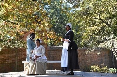 Williamsburg Living History Slavery Reenactment
